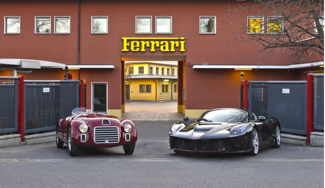 1947 Ferrari 125 S and 2017 Ferrari LaFerrari Aperta