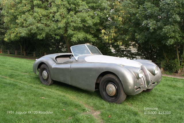 1951 Jaguar XK120 going under the hammer with Coys