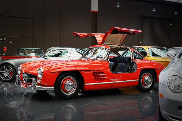 1955 Mercedes-Benz 300SL at Gosford Classic Car Museum