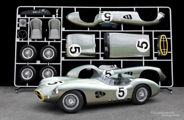 1959 Aston Martin DBR1 scale model - Image courtesy Evanta Motor Company