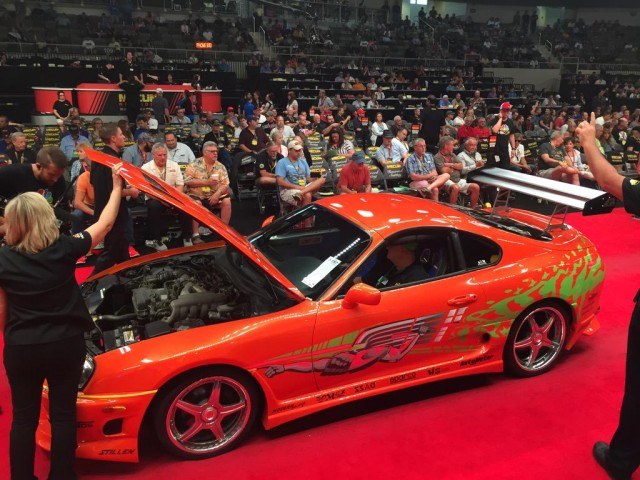 1993 Toyota Supra from 2001's 'The Fast and the Furious' - Image via Mecum Auctions