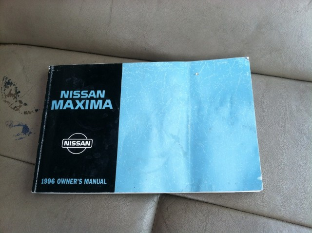 1996 Nissan Maxima from Craigslist ad at its new home in Nissan's U.S. headquarters
