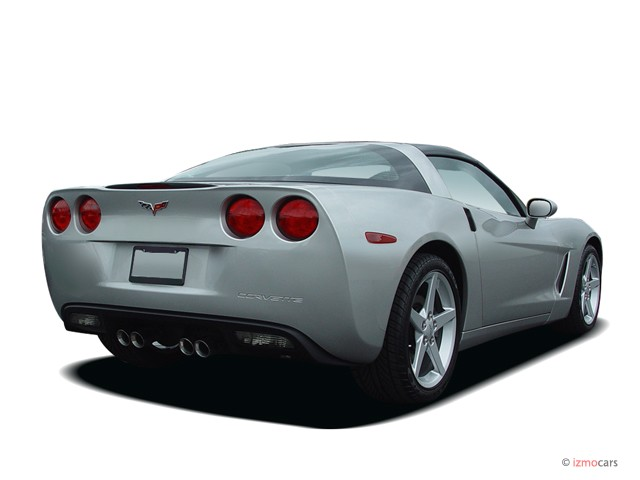 2005 Chevrolet Corvette 2-door Coupe Angular Rear Exterior View