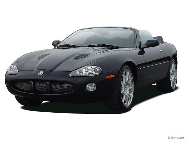 2003 Jaguar XK8 2-door Convertible XKR Angular Front Exterior View