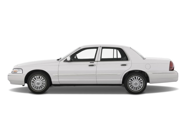 2010 Mercury Grand Marquis 4-door Sedan LS Side Exterior View