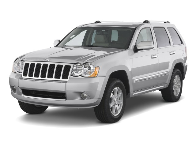 2008 Jeep Grand Cherokee RWD 4-door Overland Angular Front Exterior View