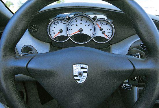 2001 Porsche Boxster S gauges