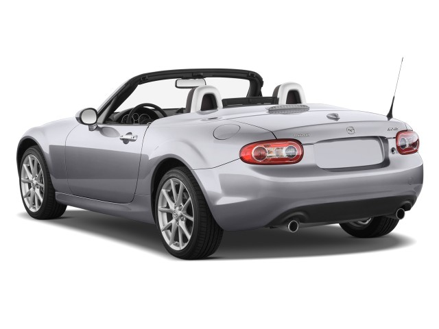 Angular Rear Exterior View - 2010 Mazda MX-5 Miata 2-door Convertible PRHT Man Grand Touring