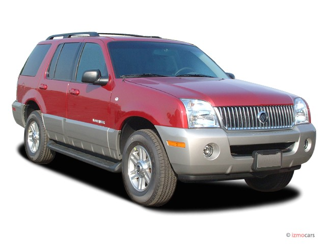 """2003 Mercury Mountaineer 4-door 114"""" WB Convenience AWD Angular Front Exterior View"""