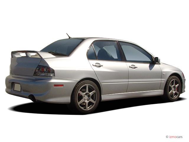 2005 mitsubishi lancer 4 door sedan evolution viii manual angular rear exterior view - Mitsubishi Lancer 2003 Silver