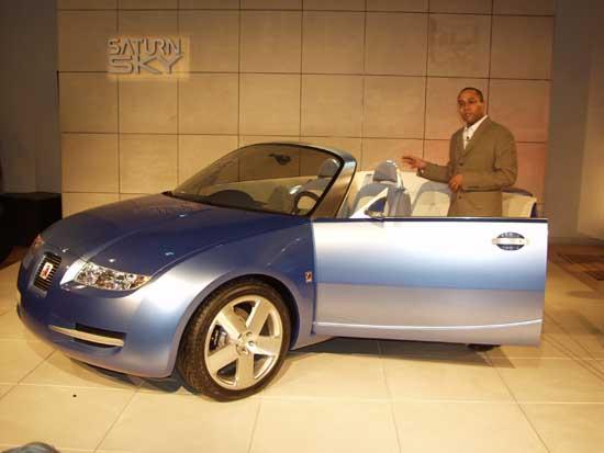 2002 Saturn Sky concept, Chicago Auto Show