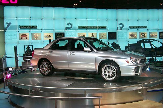 2002 Subaru Impreza WRX detroit show