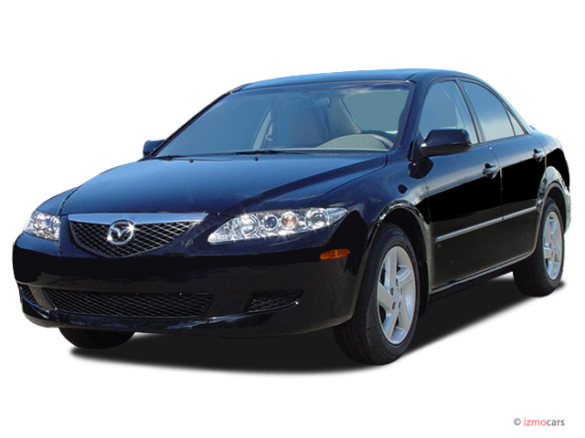 2003 Mazda MAZDA6 4-door Sedan s Auto V6 Angular Front Exterior View