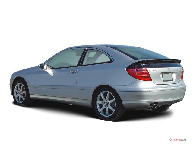image 2003 mercedes benz c class 2 door sport coupe 3 2l angular rear exterior view size 640. Black Bedroom Furniture Sets. Home Design Ideas