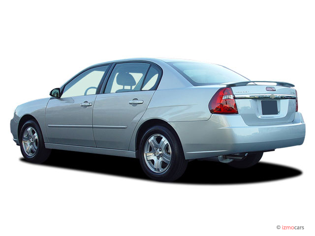 2004 Chevrolet Malibu 4-door Sedan LT Angular Rear Exterior View
