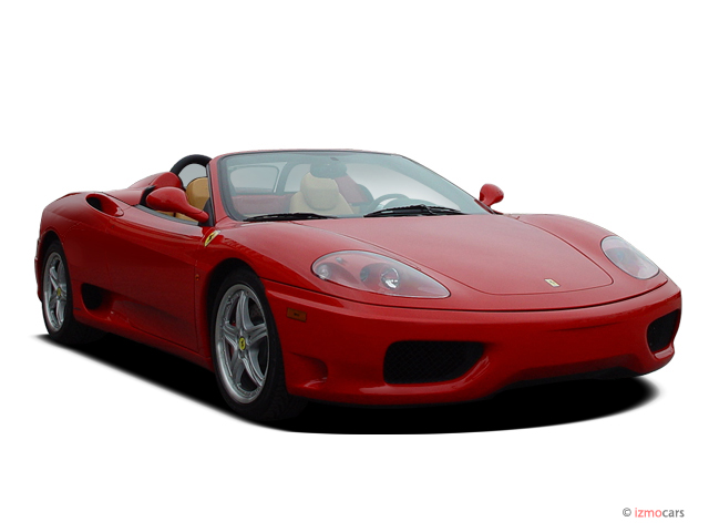 2004 Ferrari 360 2-door Convertible Spider Angular Front Exterior View