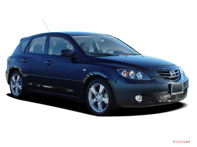 Angular Front Exterior View - 2004 Mazda MAZDA3 5dr Wagon s Manual