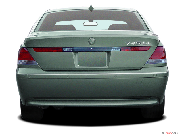 2005 BMW 7-Series 745Li 4-door Sedan Rear Exterior View