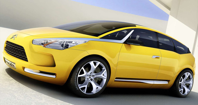 The midsize Citroen DS4 will feature styling derived from 2005's C-Sportlounge concept car