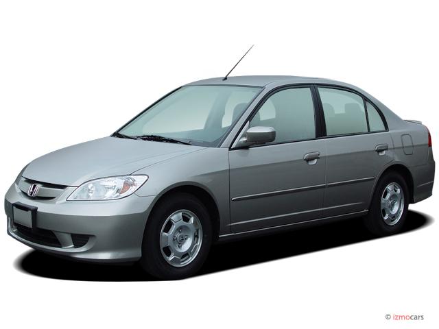 2005 Honda Civic Hybrid CVT ULEV Angular Front Exterior View