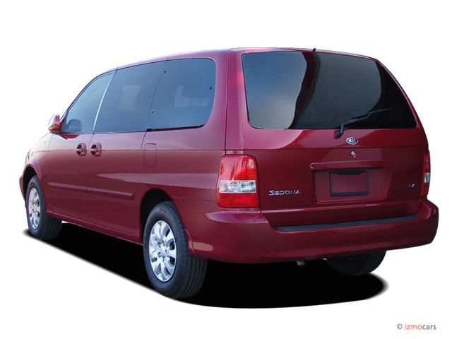 image 2005 kia sedona 4 door auto lx angular rear. Black Bedroom Furniture Sets. Home Design Ideas