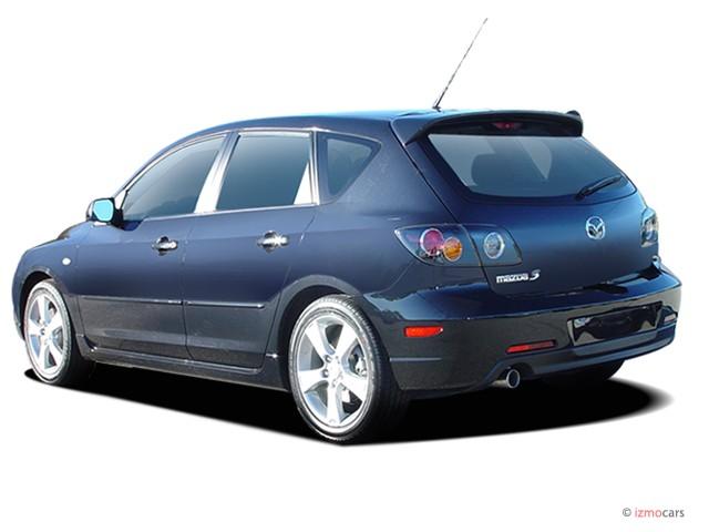 image 2005 mazda mazda3 5dr wagon s manual angular rear. Black Bedroom Furniture Sets. Home Design Ideas