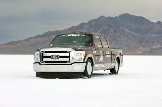 2011 Ford F-250 SuperDuty pickup truck Land Speed Record contender, Bonneville Salt Flats, Utah
