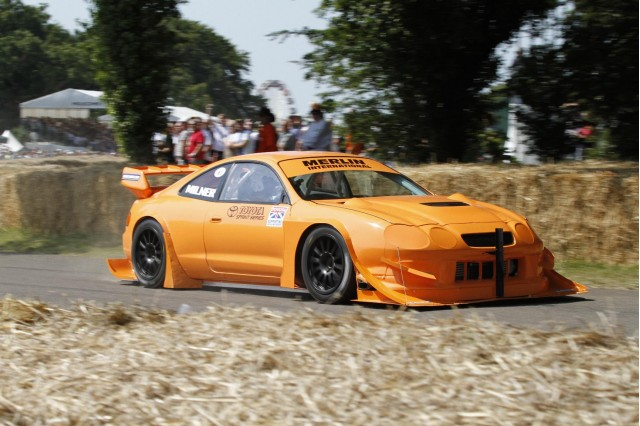 Jonny Milner drives WRC Toyota Celica at Goodwood, 2011