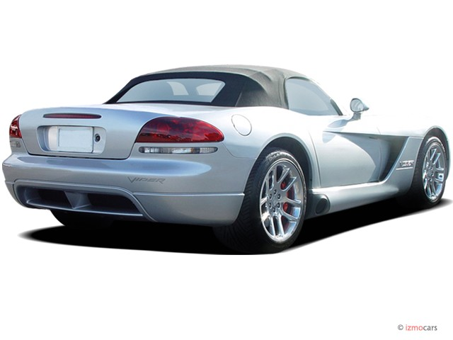 2006 Dodge Viper 2-door Convertible SRT10 Angular Rear Exterior View