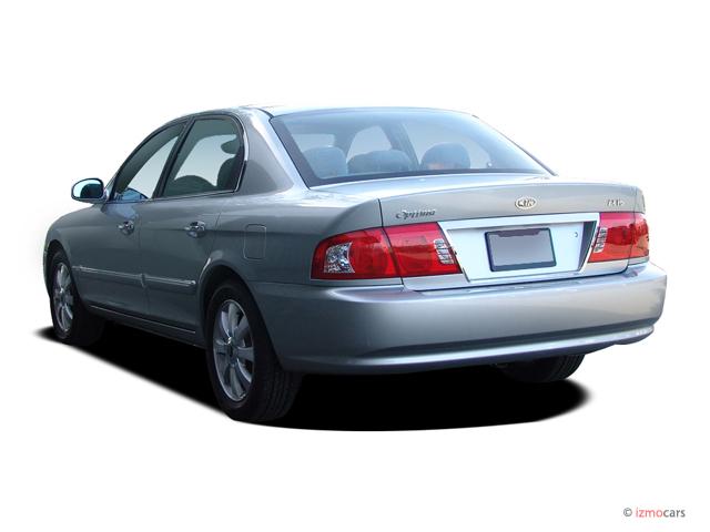 image 2006 kia optima 4 door sedan ex auto v6 angular. Black Bedroom Furniture Sets. Home Design Ideas