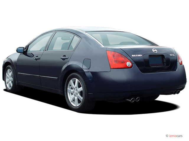 2006 Nissan Maxima 4-door Sedan SL Auto Angular Rear Exterior View