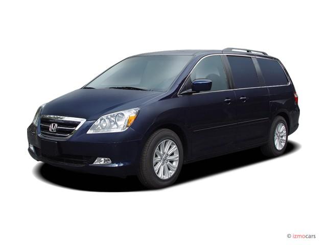 2007 Honda Odyssey 4-door Wagon Touring w/RES Angular Front Exterior View