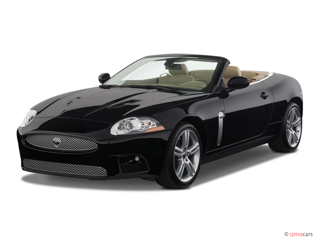 image 2007 jaguar xk 2 door convertible xkr angular front. Black Bedroom Furniture Sets. Home Design Ideas