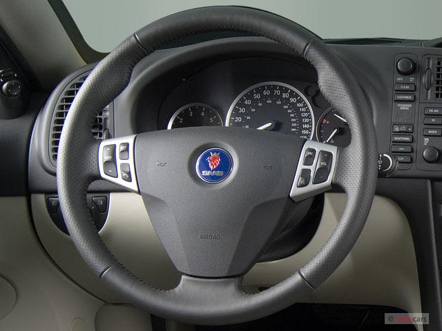 Image: 2007 Saab 9-3 5dr Wagon Steering Wheel, size: 640 x ...