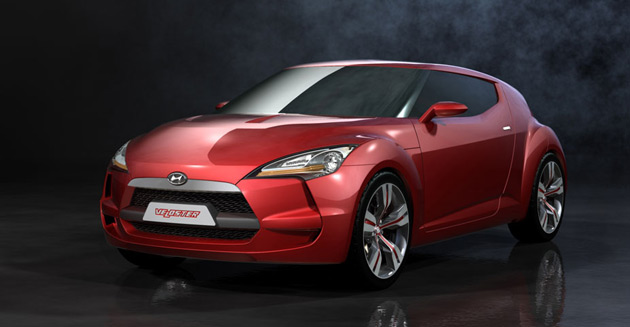 Hyundai's designers will be looking at the 2007 Velostar concept for inspiration for the next Tiburon