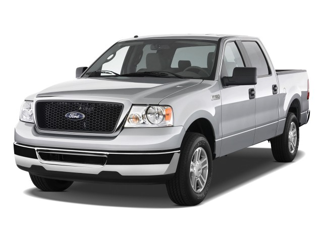 """2008 Ford F-150 2WD SuperCrew 139"""" XLT Angular Front Exterior View"""