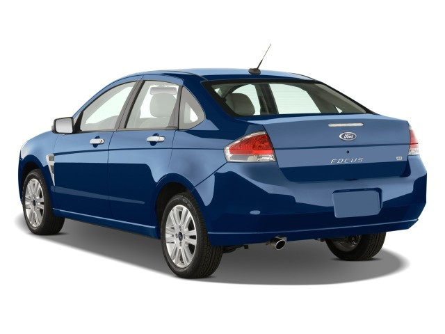 2008 Ford Focus 4-door Sedan SE Angular Rear Exterior View