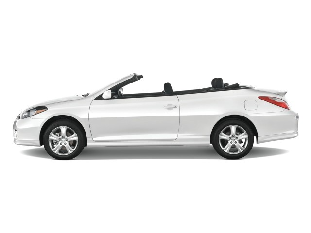image 2008 toyota camry solara 2 door convertible v6 auto sport natl side exterior view size. Black Bedroom Furniture Sets. Home Design Ideas