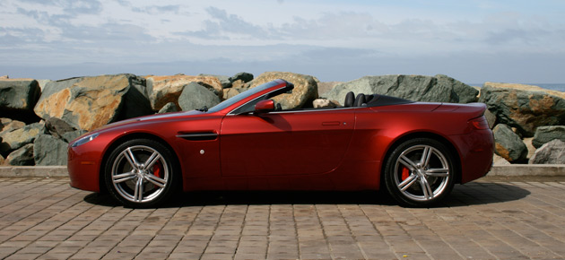 The 2009 Aston Martin Vantage roadster: Southern California's perfect commuter car, if you're choosy.