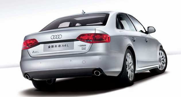 The long-wheelbase version of the A4 stretches an additional 60mm (2.36in)