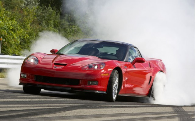 2009 Corvette ZR1 burns rubber