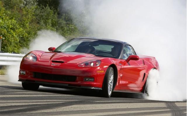 2009 Corvette ZR1 burns rubber
