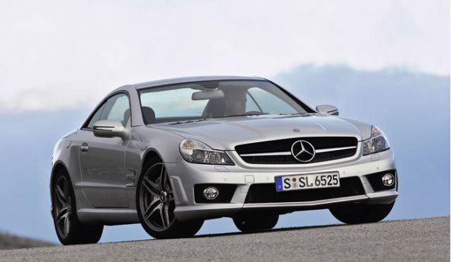 Mercedes benz drops v 12 sl class models in lead up to for 2009 mercedes benz sl65 amg