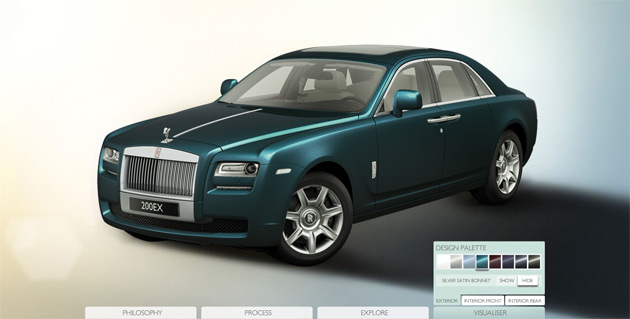 The configurator gives us a clue as to what color options will be available for the new Ghost
