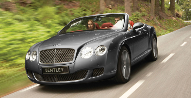 Bentley Continental GTC: Staying one step ahead of the Kardashians. (Go faster! Go faster! They're gaining!)
