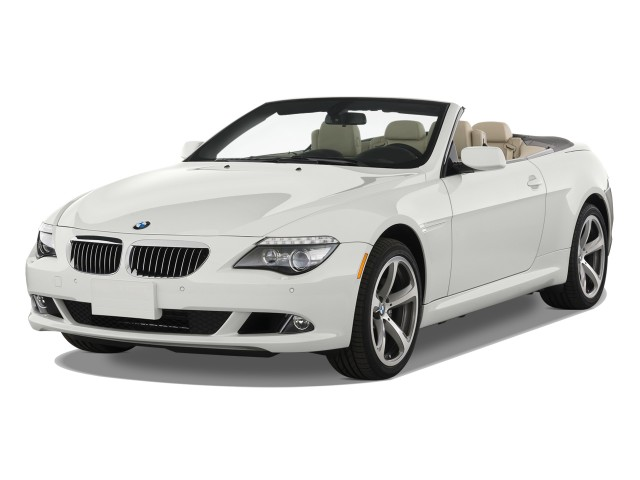 Angular Front Exterior View - 2010 BMW 6-Series 2-door Convertible 650i