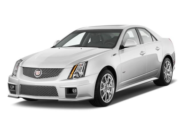 2010 Cadillac CTS-V 4-door Sedan Angular Front Exterior View