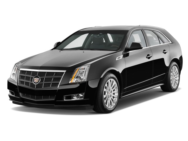 Angular Front Exterior View - 2010 Cadillac CTS Wagon 5dr Wagon 3.6L Premium RWD