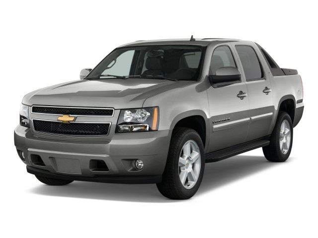 """2010 Chevrolet Avalanche 2WD Crew Cab 130"""" LT Angular Front Exterior View"""