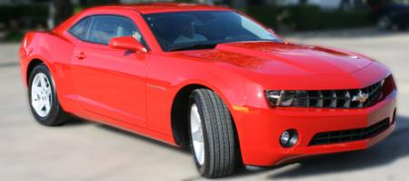 2010 Chevrolet Camaro LT in Victory Red, owned by Roger Behymer, Morgan Mills, Texas